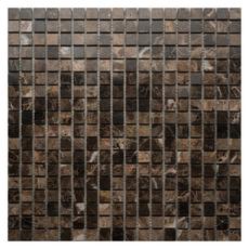 Каменная мозаика Emperador Dark pol. 15x15х4